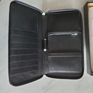 Ecco Wallet business travel cow leather